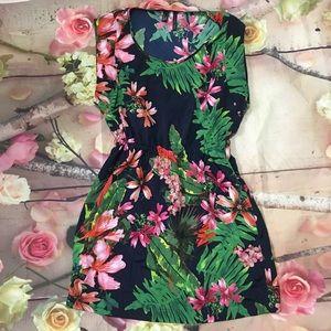 Floral print mango dress